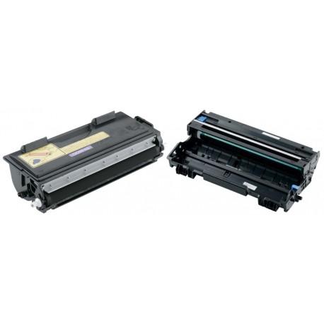 BROTHER TN-6600 & DR-6000 Lot de 2 Cartouches Lasers (Toner + Tambour) Compatibles