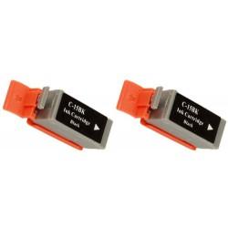 CANON BCI15BK Pack de 2 Cartouches Noires compatibles