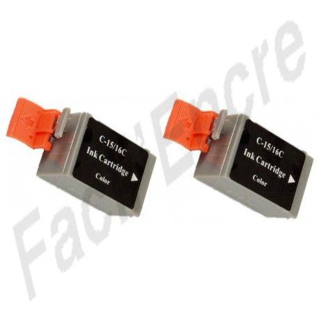 CANON BCI15CL Pack de 2 Cartouches de Couleurs compatibles