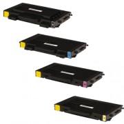 SAMSUNG CLP-500 BK/C/M/Y Lot de 4 Cartouches Toners Lasers Compatibles