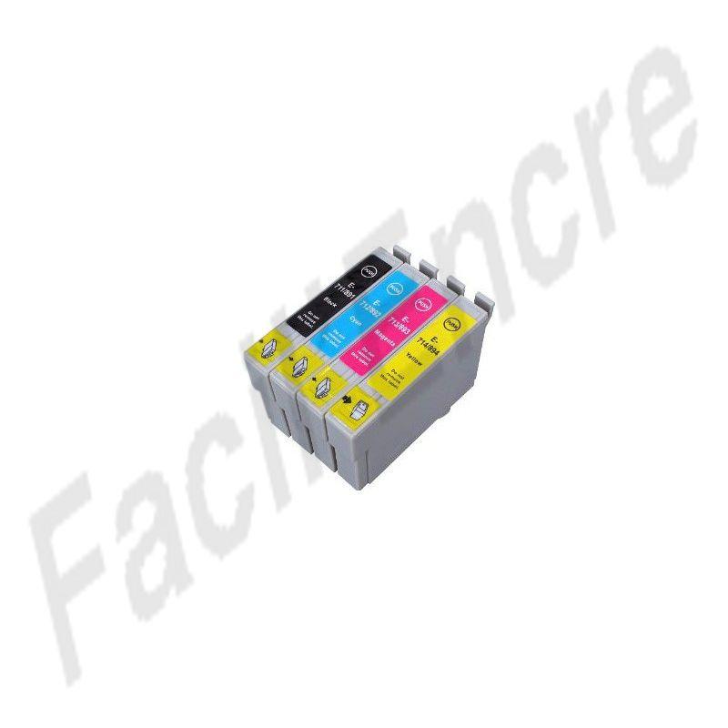 epson t0715 pack de 4 cartouches compatibles c13t07154010. Black Bedroom Furniture Sets. Home Design Ideas