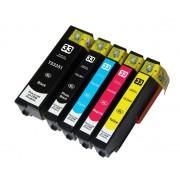 EPSON T3351+T3361+T3362+T3363+T3364 Lot de 5 Cartouches Haute Capacité Compatibles