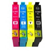 EPSON T2991+T2992+T2993+T2994 Lot de 4 Cartouches Haute Capacité Compatibles