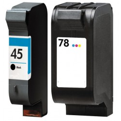 HP Pack N°45 + N°78 Cartouches Compatibles