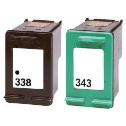 HP Pack N°338 + N°343 Cartouches Compatibles