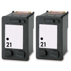 HP Pack 2 x N°21 Cartouches Compatibles