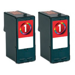 LEXMARK Pack 2 x N°1 Cartouches Compatibles