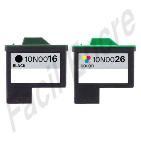 LEXMARK Pack N°16 + N°26 Cartouches Compatibles
