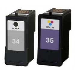 LEXMARK Pack N°34+ N°35 Cartouches Compatibles