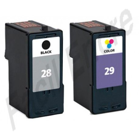 LEXMARK Pack N°28+ N°29 Cartouches Compatibles