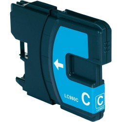 BROTHER LC1100C / LC980C Cyan Cartouche Compatible