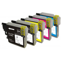 BROTHER LC985 Pack de 5 Cartouches compatibles