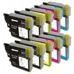 BROTHER LC985 Pack de 10 Cartouches compatibles