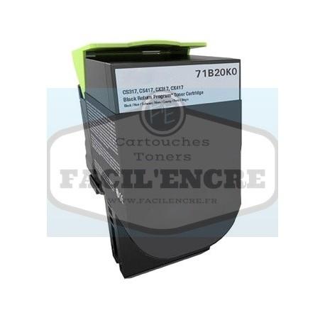 FG ENCRE Cartouche Toner Remanufacturé pour LEXMARK CS317 / CX317 / CX417 / CS417 / CX517 / CS517 Noir 3000 pages