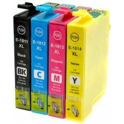 EPSON Pack T1806 / T1816 Pack de 4 Cartouches compatibles