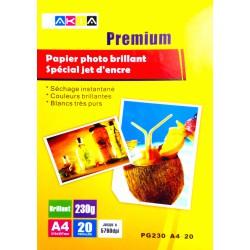 Papier Photo Glossy A4 210g / 20 feuilles