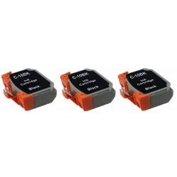 CANON BCI10BK Pack de 3 Cartouches compatibles