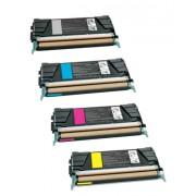 IBM INFOPRINT 1614 BK/C/M/Y Lot de 4 Cartouches Toners Lasers Compatibles