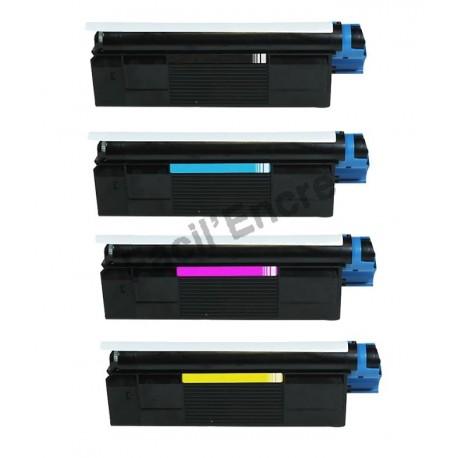 OLIVETTI D COLOR P12 BK/C/M/Y Lot de 4 Cartouches Toners Lasers Compatibles