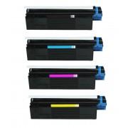 OLIVETTI P20 / P26W BK/C/M/Y Lot de 4 Cartouches Toners Lasers Compatibles