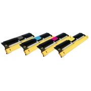 KONICA MINOLTA QMS-2400 BK/C/M/Y Lot de 4 Cartouches Toners Lasers Compatibles