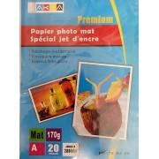 Papier Photo Mat A4/20 Feuilles