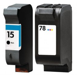 HP Pack N°15 + N°78 Cartouches Compatibles