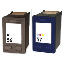 HP Pack N°56+ N°57 Cartouches Compatibles