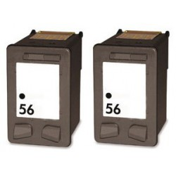 HP Pack 2 x N°56 Cartouches Compatibles