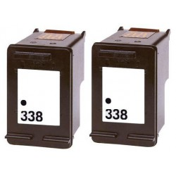 HP Pack 2 x N°338 Cartouches Compatibles
