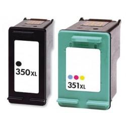 HP Pack N°350XL + N°351XL Cartouches Compatibles
