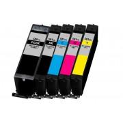 FG ENCRE Lot de 5 Cartouches très hautes Capacités compatible pour Canon PGI-580XXL CLI-581XXL