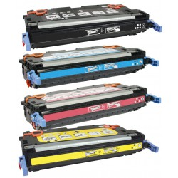HP Q7560A + Q7561A + Q7562A + Q7563A Lot de 4 Cartouches Toners Lasers Compatibles